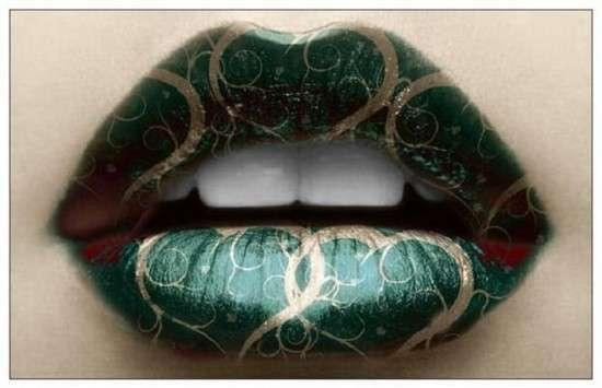 Amazing Lips With Cool Designs as seen on CoolWeirdo.com