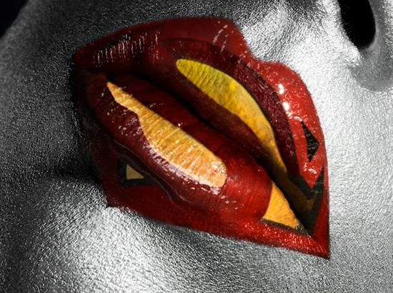 superman lips Amazing Lips With Cool Designs as seen on CoolWeirdo.com
