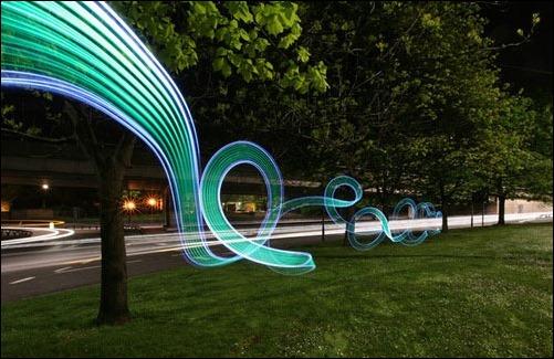 Coolest Light Painting 8 Coolest Light Painting as seen on CoolWeirdo.com
