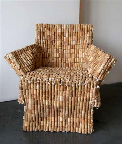 chair out of corks
