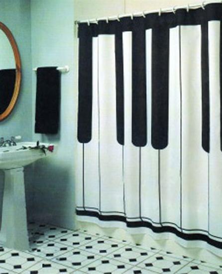 piano shower curtain Coolest Bath Curtains as seen on CoolWeirdo.com