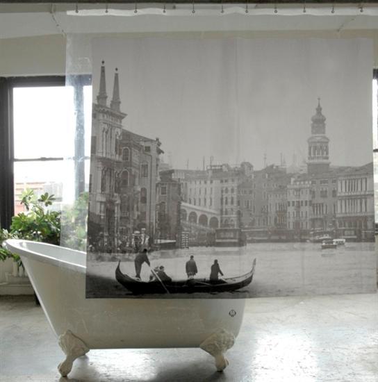 vintage shower curtain Coolest Bath Curtains as seen on CoolWeirdo.com