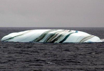 colored striped iceberg