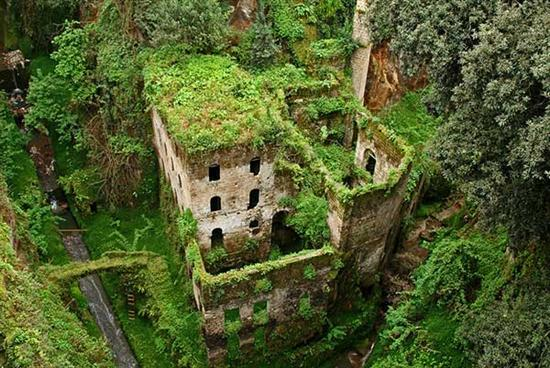Abandoned mill 1866 in Italy