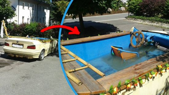 bmw converted into a pool 2