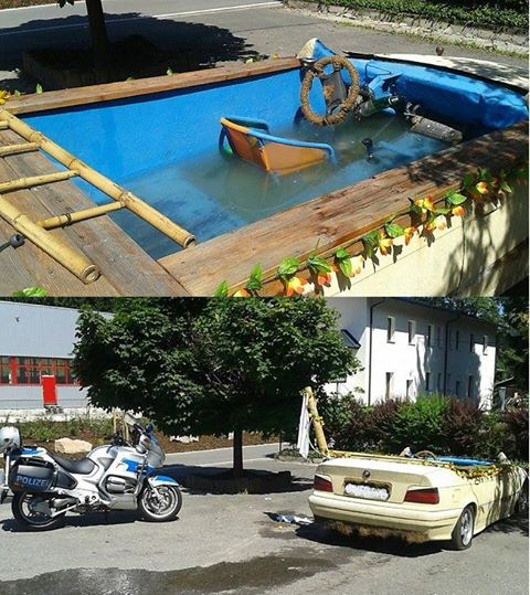 bmw converted into a pool 4
