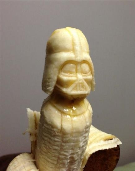 darth vader banana sculture