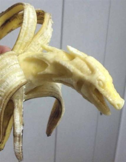 dragon banana sculpture