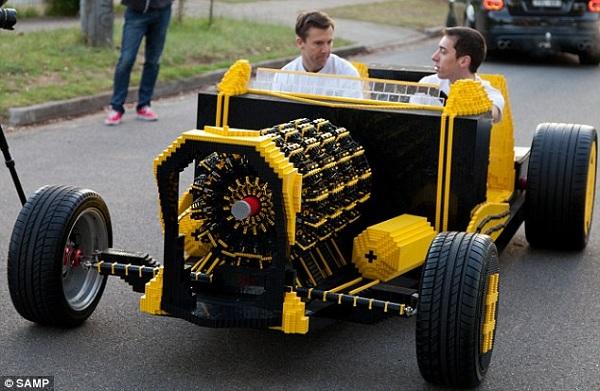lego car on air