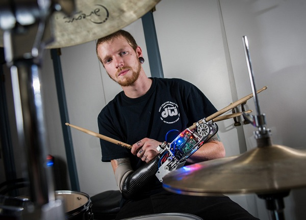 Jason Barnes cyborg drummer