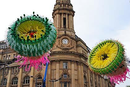 huge flower sculpture