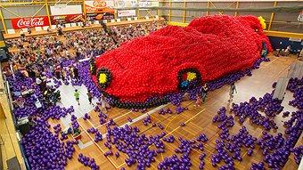 wiggle balloons car
