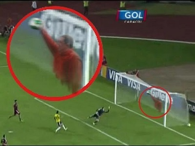 goal saved by hugo chavez