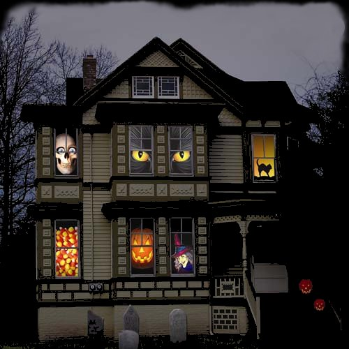 Haunted house decoration for halloween picture 046