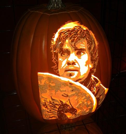 Tyrion Lannister pumpkin carving