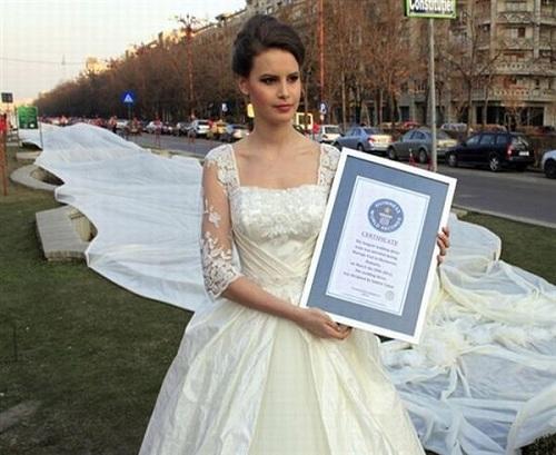 Wedding Dress with the longest train