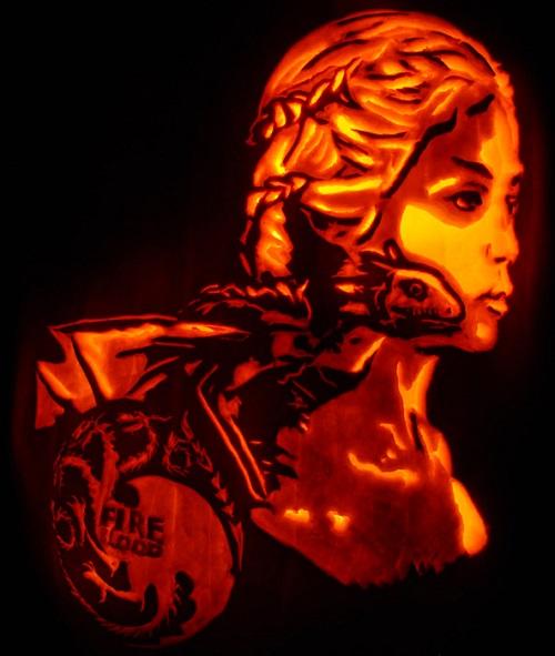 daenerys targaryen dragon pumpkin carving