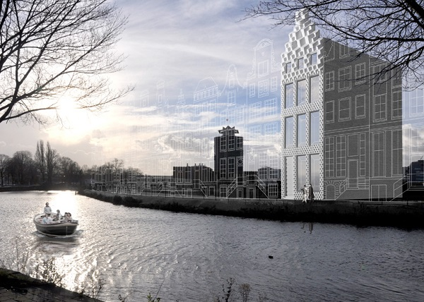 dezeen 3D printed canal house by DUS Architects