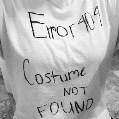 error costume halloween