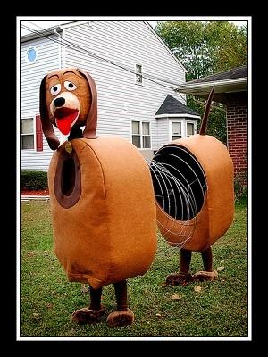 funny slinky dog costume