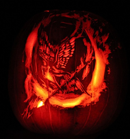 mockingjay pumpkin