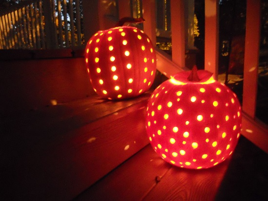 polka dots pumpkin