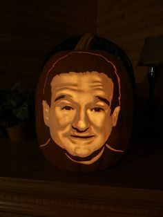 robin williams pumpkin
