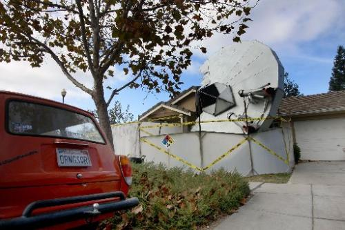 spaceship crashedin house