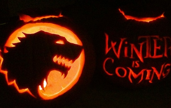 winter is coming carving