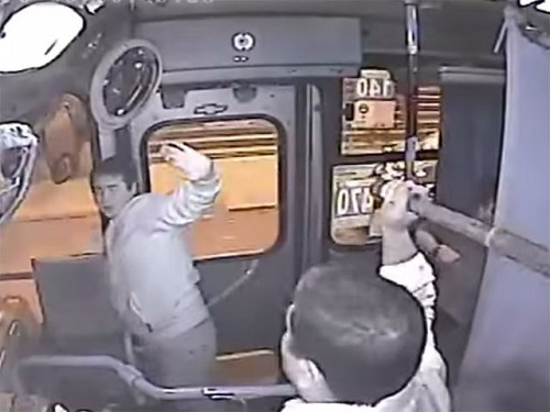 robber beaten bus driver