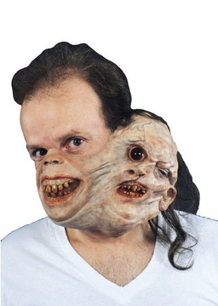 Twosome Mask - Conjoined creepy twins Halloween Costume