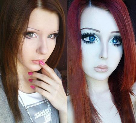 Anastasiya Shpagina before and after anime barbie girl