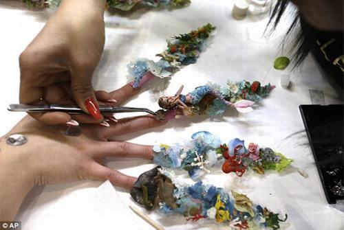 Ocean life nail art design