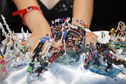 Winter Olympics nail art design