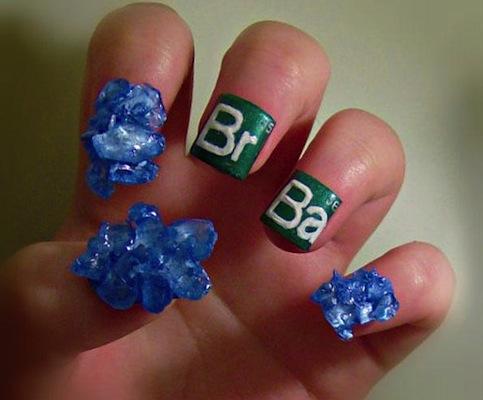 breaking bad nail art design