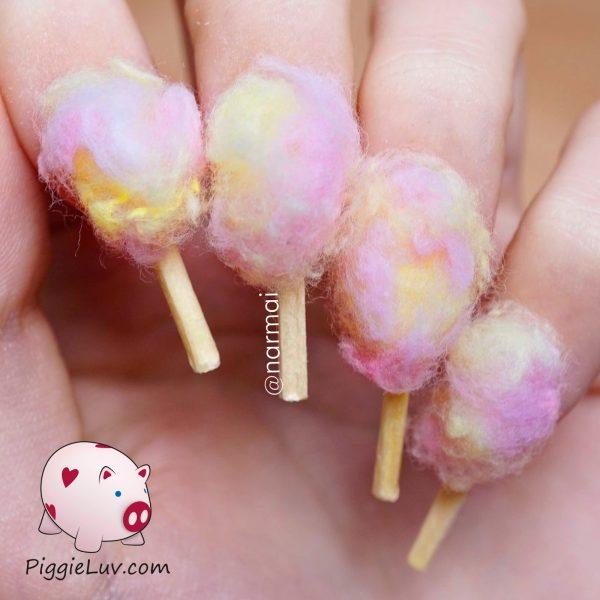 candy floss nail art design 600x600