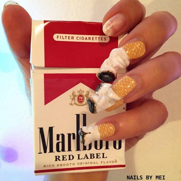 cigarettes nail art design 600x600