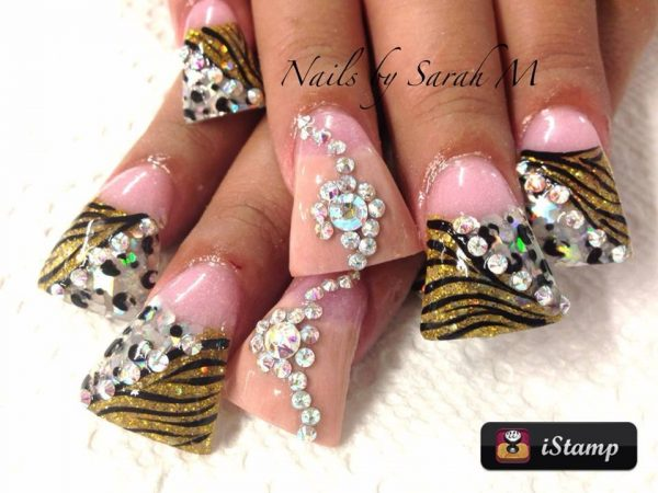 duck feet nails art design 600x450