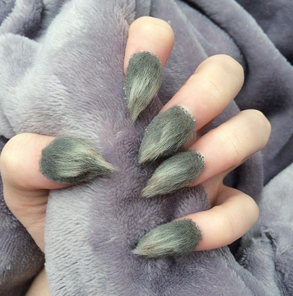 furry nails art design