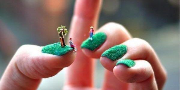 grass nail art design 600x300