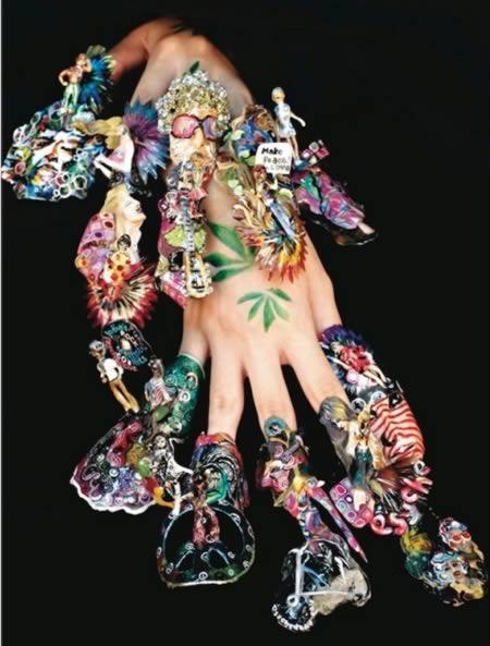 hippie nails art design