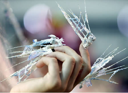 icy weird nail art