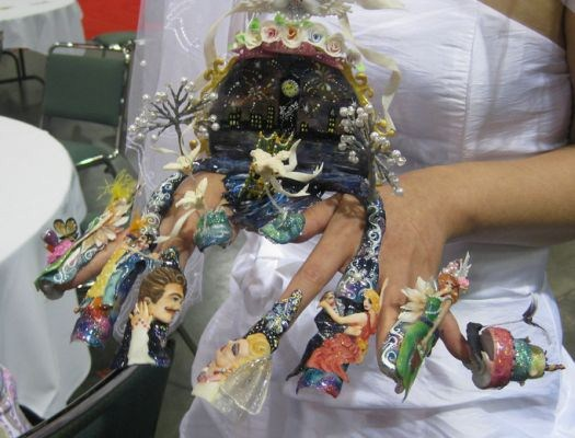 wedding fantasy nail art design