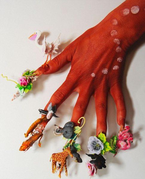 zoo fairy nail art design 485x600