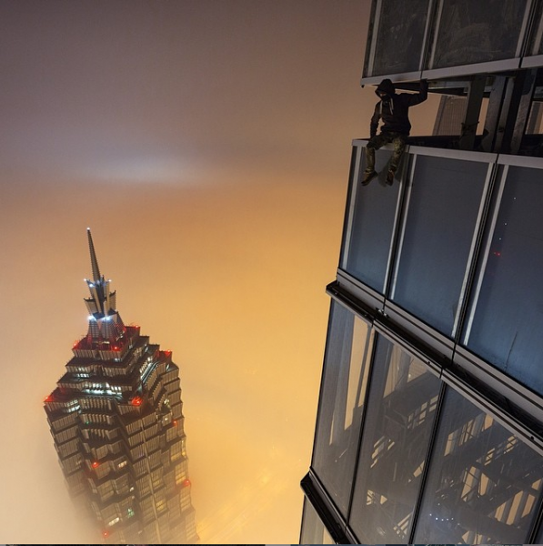 one of the tallest buildings they climbed is the 2132 foot high shanghai tower in china 597x600