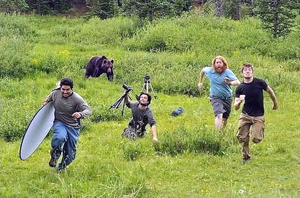people getting chased by bears
