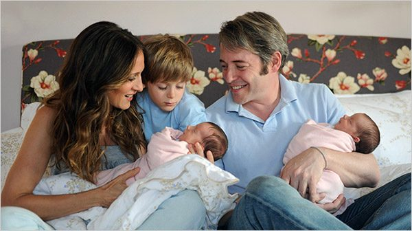 Sarrah Jessica Parker, Matthew Broderick And James With Their Newborn Babies